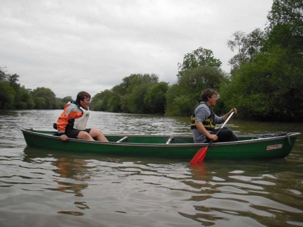 Canoeing on the Wye