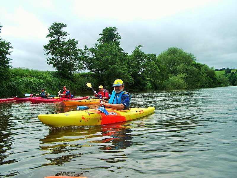 Kayakers on the Wye