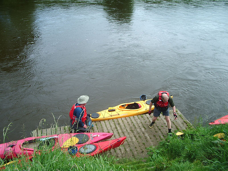 paddlers on the river Wye